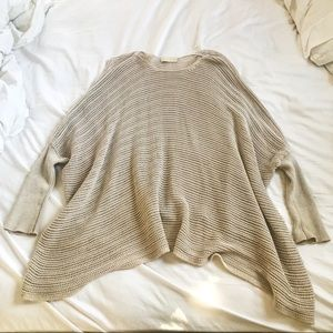 Flowy Neutral Sweater with Hint of Shimmer